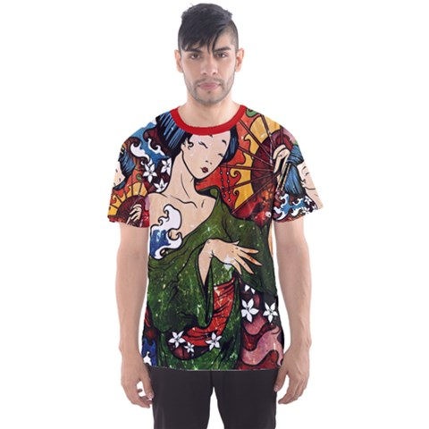 Geisha All Over Print Sport T-shirt (men) by UniqueandCustomGifts