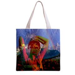 Fusion With The Landscape All Over Print Grocery Tote Bag
