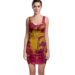 Tropical Hawaiian Style Lilies Collage Bodycon Dress by dflcprintsclothing