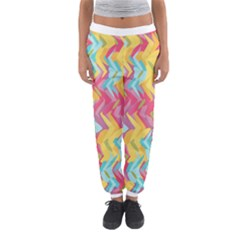 Paint Strokes Abstract Design Women s Jogger Sweatpants by LalyLauraFLM