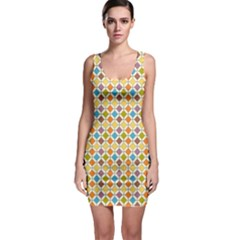 Colorful Rhombus Pattern Bodycon Dress