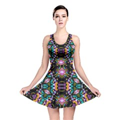 Digital Futuristic Geometric Pattern Reversible Skater Dress by dflcprintsclothing