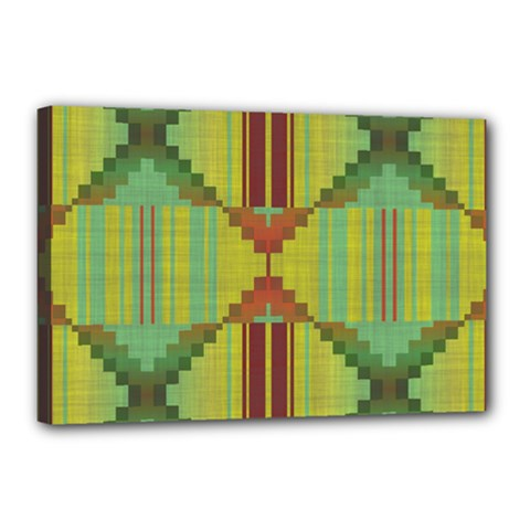 Tribal Shapes Canvas 18  X 12  (stretched) by LalyLauraFLM