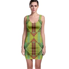 Tribal Shapes Bodycon Dress by LalyLauraFLM
