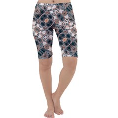 Modern Floral Decorative Pattern Print Cropped Leggings  by dflcprintsclothing
