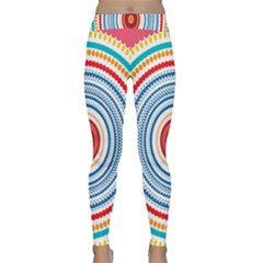 Colorful Round Kaleidoscope Yoga Leggings by LalyLauraFLM
