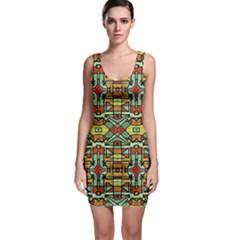 Colorful Tribal Geometric Pattern Bodycon Dress