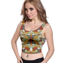 Multicolored Abstract Tribal Print Crop Top by dflcprintsclothing