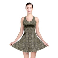Steam Punk Pattern Reversible Skater Dress by dflcprintsclothing