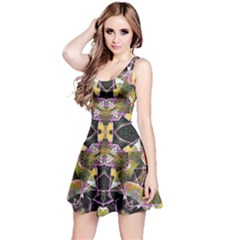 Geometric Grunge Pattern Print Sleeveless Dress by dflcprintsclothing