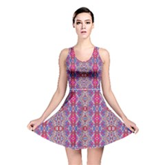 Colorful Ornate Decorative Pattern Reversible Skater Dress