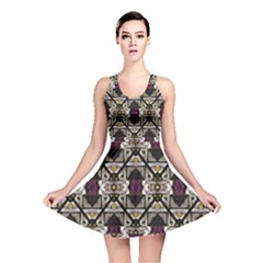 Abstract Geometric Modern Seamless Pattern Reversible Skater Dress by dflcprintsclothing
