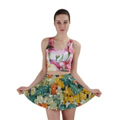 Paint Strokes In Retro Colorsmini Skirt by LalyLauraFLM