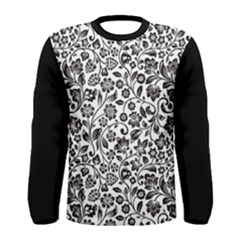 Elegant Glittery Floral Long Sleeve T Shirt (men) by StuffOrSomething