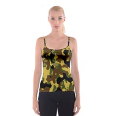 Camo Pattern  Spaghetti Strap Top by Colorfulart23