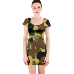Camo Pattern  Short Sleeve Bodycon Dress