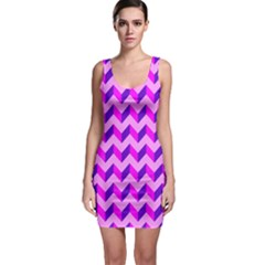 Modern Retro Chevron Patchwork Pattern Bodycon Dress by creativemom