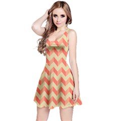 Modern Retro Chevron Patchwork Pattern Sleeveless Dress by creativemom