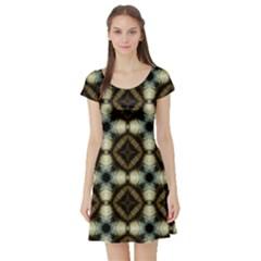 Faux Animal Print Pattern Short Sleeve Skater Dress by creativemom