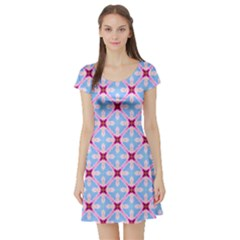 Cute Pretty Elegant Pattern Short Sleeve Skater Dress by creativemom