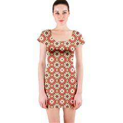 Cute Pretty Elegant Pattern Short Sleeve Bodycon Dress by creativemom