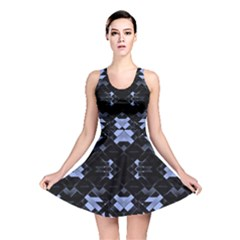 Geometric Futuristic Design Reversible Skater Dress by dflcprintsclothing