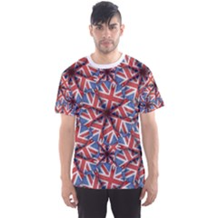 Heart Shaped England Pattern Print Men s Sport Mesh Tee by dflcprintsclothing