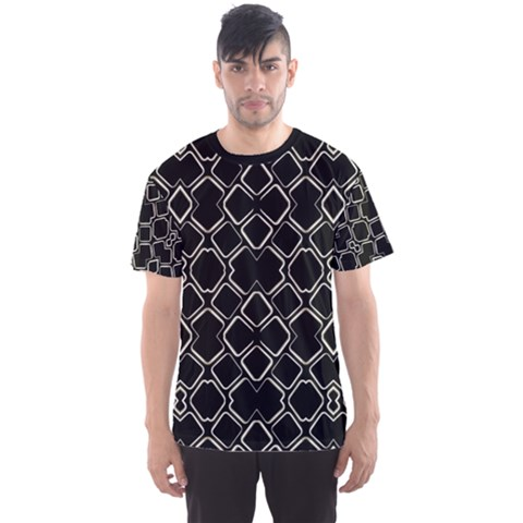 Geometric Dark Print Men s Sport Mesh Tee by dflcprintsclothing