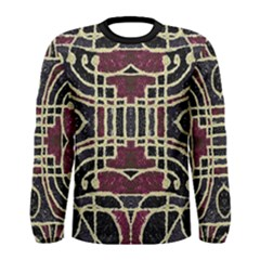Tribal Grunge Print Long Sleeve T Shirt (men) by dflcprintsclothing