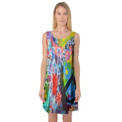 The Sixties Sleeveless Satin Nightdress by TheWowFactor