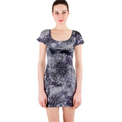 Nature Collage Print  Short Sleeve Bodycon Dress by dflcprintsclothing