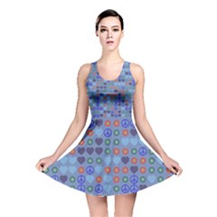 Peace And Lovereversible Skater Dress by LalyLauraFLM