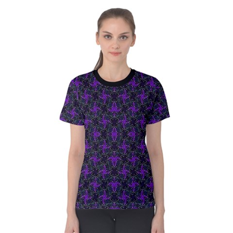 Luxury Pattern Print Women s Cotton Tee by dflcprintsclothing
