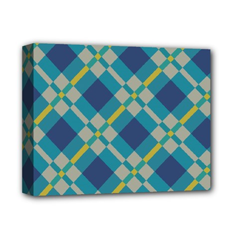 Squares And Stripes Pattern Deluxe Canvas 14  X 11  (stretched) by LalyLauraFLM
