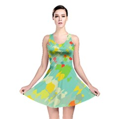 Smudged Shapes Reversible Skater Dress