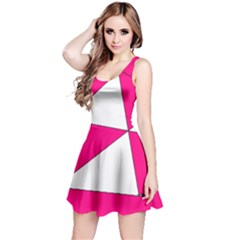 Pink White Art Kids 7000 Reversible Sleeveless Dress by yoursparklingshop