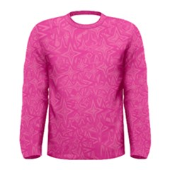 Abstract Stars In Hot Pink Men s Long Sleeve T Shirt by StuffOrSomething