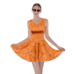 Orange Abstract 45s Skater Dress