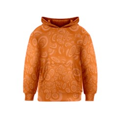 Orange Abstract 45s Kid s Pullover Hoodie by StuffOrSomething