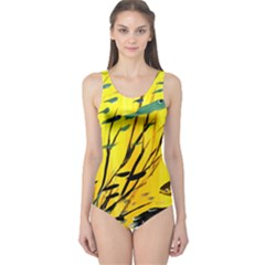 Yellow Dream Women s One Piece Swimsuit by pwpmall