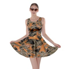 Intricate Abstract Print Skater Dress