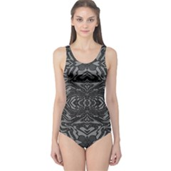 Trippy Black&white Abstract  One Piece Swimsuit by OCDesignss