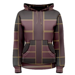 Vertical And Horizontal Rectangles Pullover Hoodie by LalyLauraFLM