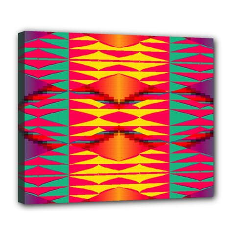 Colorful Tribal Texture Deluxe Canvas 24  X 20  (stretched) by LalyLauraFLM