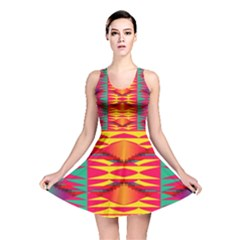Colorful Tribal Texture Reversible Skater Dress by LalyLauraFLM