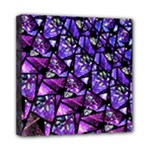Blue purple Glass Mini Canvas 8  x 8  (Framed)