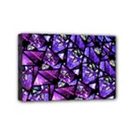 Blue purple Glass Mini Canvas 6  x 4  (Framed)