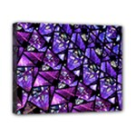 Blue purple Glass Canvas 10  x 8  (Framed)
