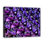 Blue purple Glass Canvas 14  x 11  (Framed)