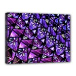 Blue purple Glass Canvas 16  x 12  (Framed)